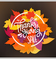 thanksgiving sale tag circle frame with vector image