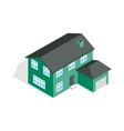 Two storey house with garage icon vector image vector image