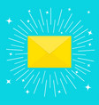 unread mail notification email icon shining vector image