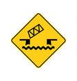 usa traffic road signs bridge ahead lifts or vector image
