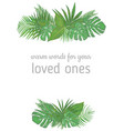 vertical foliage frame wedding invitation label vector image vector image