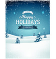 vintage holiday season landscape background vector image vector image