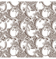 vintage pomegranate seamless pattern vector image vector image