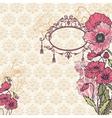Vintage Poppy Background vector image