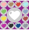 icons of heart vector image