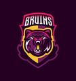 colorful logo bear s head an aggressive beast a vector image