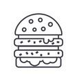 cheeseburger line icon sign vector image