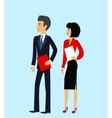 Male and Female as Office Businesspeople Icon vector image