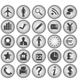 25 Business icons vector image vector image