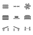 9 barrier icons vector image vector image