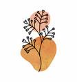 abstract botanical wall art leaves boho vector image