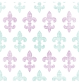 Abstract textile fleur de lis stripes seamless