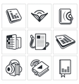 Audio book icon collection vector image vector image