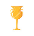 award golden cup closeup icon vector image vector image
