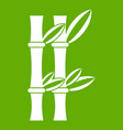 bamboo icon green vector image vector image
