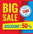 big sale - concept banner vector image