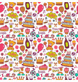 birthday background with symbols of a holiday vector image