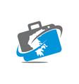 briefcase traveling logo vector image