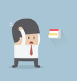Businessman boring monday vector image vector image