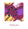 card with color ink brushes grunge pattern vector image vector image