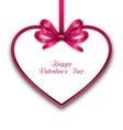 Celebration Card in form Heart with Ribbon for vector image vector image