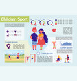children sport infographic infographic set vector image
