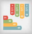 color infographic elements vector image