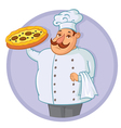 Cook Pizza vector image