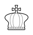 crown pope catholic emblem icon vector image vector image