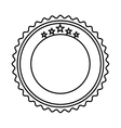 elegant circular frame icon vector image vector image