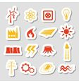 energy stickers vector image vector image
