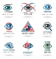 Eye logo set vector image vector image