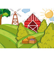 farm cute cartoons vector image