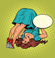 female yoga girl in a dress in a funny pose vector image