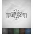 fist fight icon Hand drawn vector image vector image