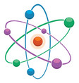 flat icon abstract atom or molecule model vector image vector image