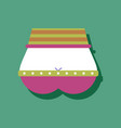 flat icon design sexy female belt in sticker style vector image vector image