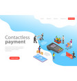flat isometric landing page template of vector image vector image