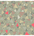 geometric pattern seamless background vector image vector image