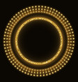 golden glittering round marquee vector image vector image