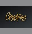 golden shiny realistic 3d inscription merry vector image vector image