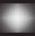 halftone background radial gradient of dots vector image
