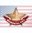 happy memorial day concept vector image vector image