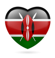 Heart icon of Kenya vector image vector image