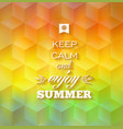 Hipster summer background vector image vector image