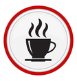 icon with a cup of coffee vector image vector image