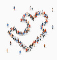 large group people in form jigsaw puzzle vector image vector image