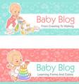 llustration for baby blog toddler with walker vector image vector image