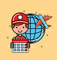 logistics and delivery service vector image