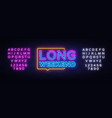 long weekend neon sign weekend design vector image